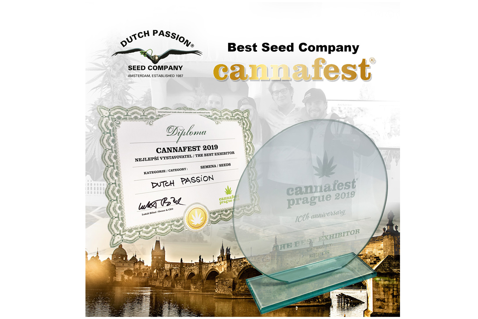 Dutch Passion awarded 'Best Seedbank' at Cannafest 2019